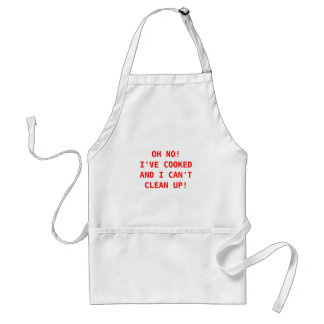 I Can't Clean Up! - apron