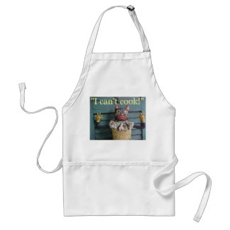 """I Can't Cook!"" Standard Apron"
