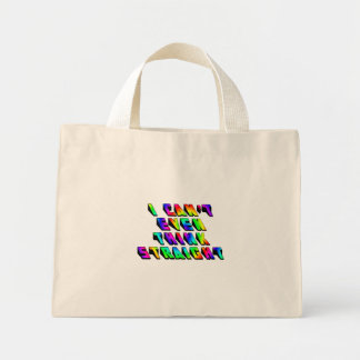 I can't even THINK straight Mini Tote Bag