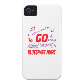 I can't go a day without listening to Bluegrass iPhone 4 Case