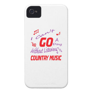 I can't go a day without listening to Country Case-Mate iPhone 4 Case