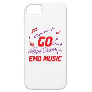 I can't go a day without listening to Emo music iPhone 5 Cases