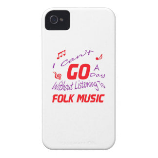 I can't go a day without listening to Folk music iPhone 4 Covers