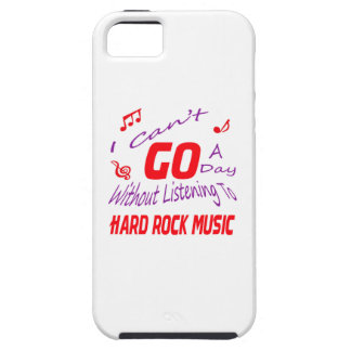 I can't go a day without listening to Hard Rock iPhone 5/5S Covers