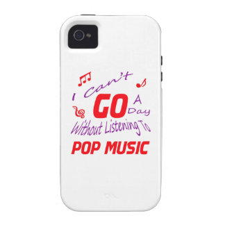 I can't go a day without listening to Pop music Vibe iPhone 4 Cover