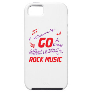 I can't go a day without listening to Rock music iPhone 5 Cover