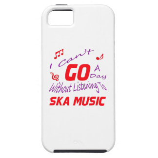 I can't go a day without listening to Ska music iPhone 5 Case