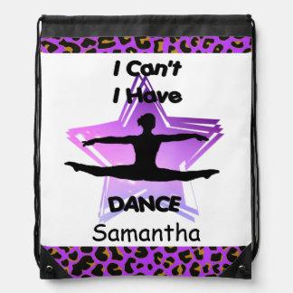 I Can't I have Dance drawstring backpack