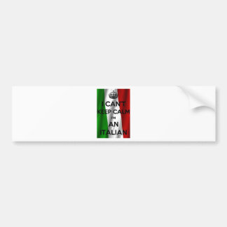 I CAN'T KEEP CALM... I'M ITALIAN BUMPER STICKER