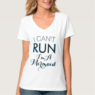 i CAN'T RUN I'M A MERMAID SHIRT double letters