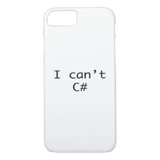 I can't see sharp C# iPhone 8/7 Case