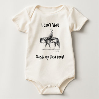 I Can't Wait To Ride My First Pony! Western Baby Bodysuit