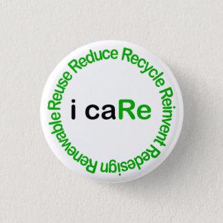 I Care 1 Inch Round Button