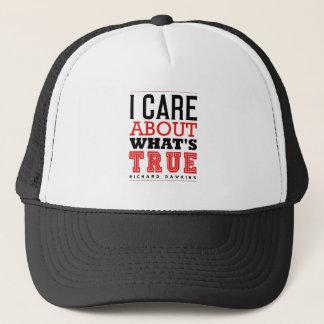 I CARE ABOUT WHAT'S TRUE - Dawkins Trucker Hat
