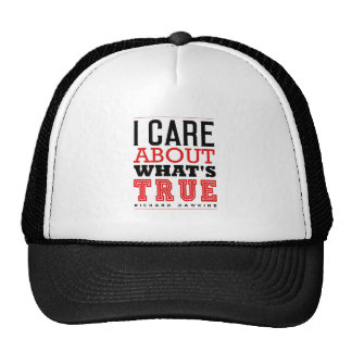 I CARE ABOUT WHAT'S TRUE - Dawkins Trucker Hat