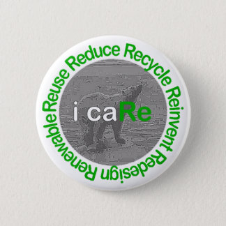 i caRe Polar Bear 2 Inch Round Button