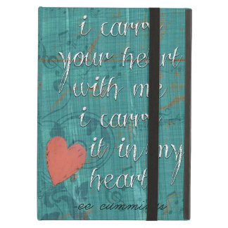 I Carry Your Heart With Me Poem iPad Air Case