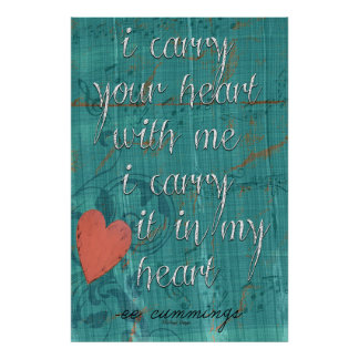 I Carry Your Heart With Me Poem Poster