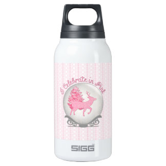 I Celebrate in Pink Insulated Water Bottle