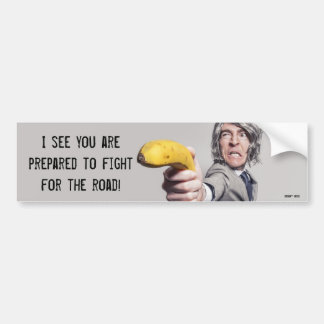 I Challenge You To A Banana Duel - Parking Note Bumper Sticker