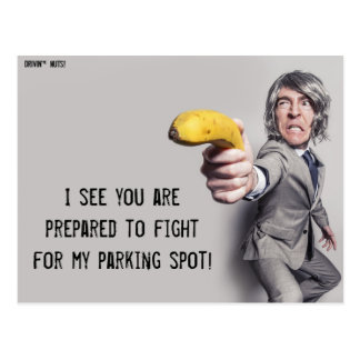 I Challenge You To A Banana Duel - Parking Note Postcard