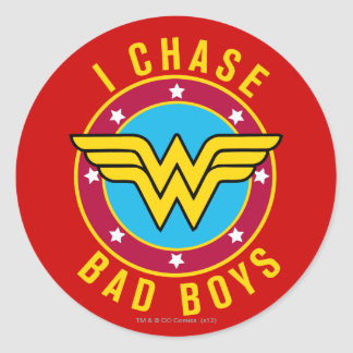 I Chase Bad Boys Classic Round Sticker