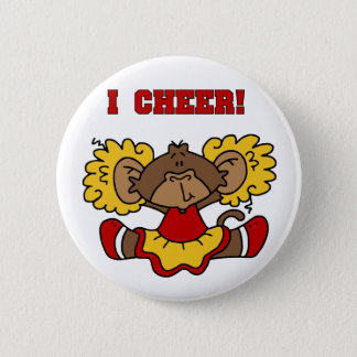 I Cheer Red and Gold T-shirts and Gifts 2 Inch Round Button