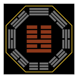 "I Ching Hexagram 36 Ming I ""Brightness Hiding"" Poster"