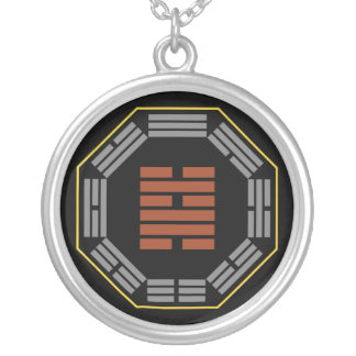 "I Ching Hexagram 48 Ching ""The Well"" Silver Plated Necklace"