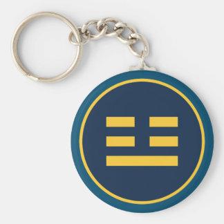 I Ching Thunder Trigram (Zhen) Basic Round Button Keychain