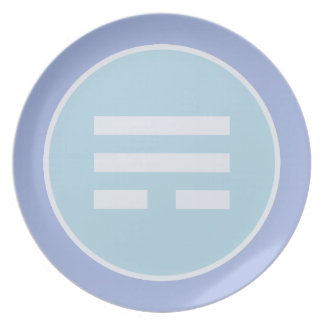 I Ching Wind Trigram (Xun) Plate