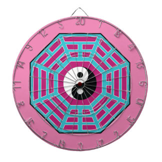 I Ching Yin Yang Dartboard With Darts