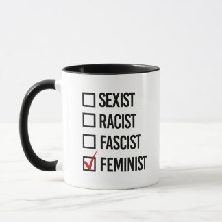 I choose Feminist over Fascist - Mug