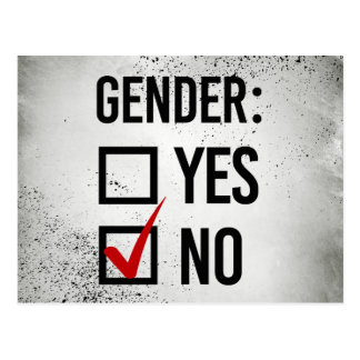 I choose No Gender - -  Postcard