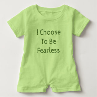 I Choose To Be Fearless Green Romper