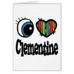 I clémentine de coeur (amour) cartes de vœux