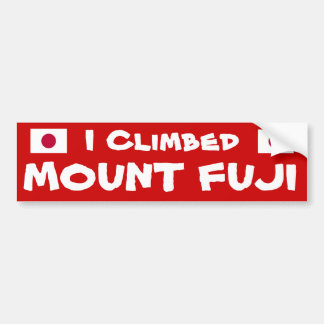 I Climbed* Mount Fuji Bumper Sticker