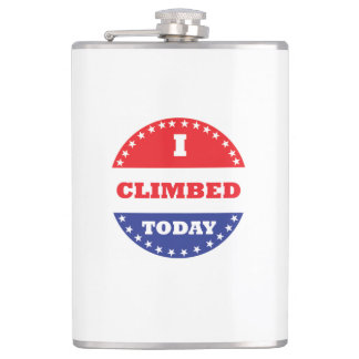 I Climbed Today Hip Flask