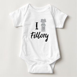 I (Clock) Fillory Baby Bodysuit
