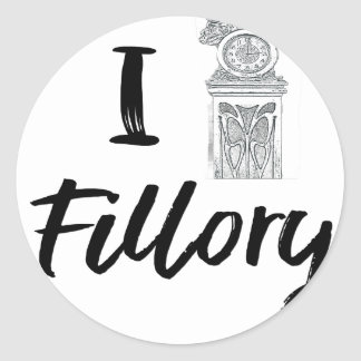 I (Clock) Fillory Classic Round Sticker