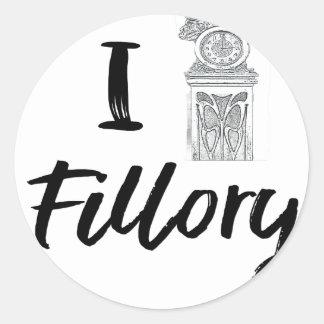 I (Clock) Fillory Classic Round Sticker