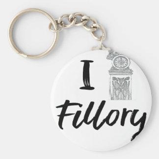 I (Clock) Fillory Keychain