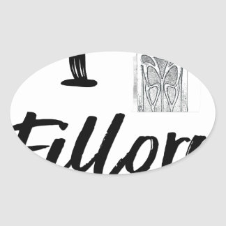 I (Clock) Fillory Oval Sticker