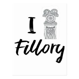 I (Clock) Fillory Postcard