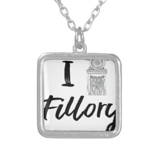 I (Clock) Fillory Silver Plated Necklace