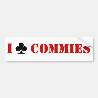 I Club Commies Bumper Sticker