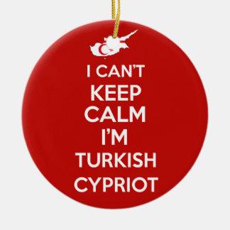 I Cnt Keep Calm Im Turkish Cypriot Ceramic Ornament