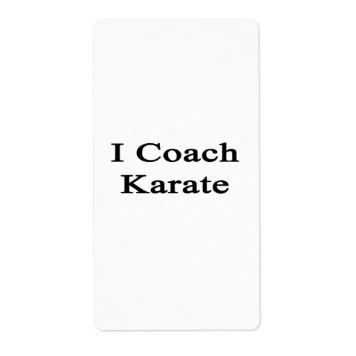 I Coach Karate Shipping Labels