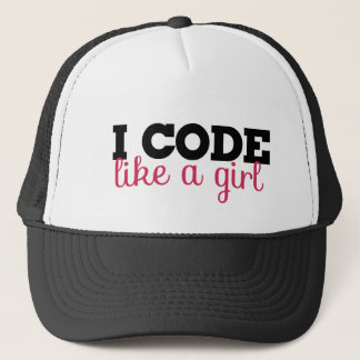 I code like a girl trucker hat