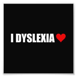I coeur d'amour de dyslexie tirages photo